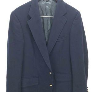 Chaps Ralph Lauren Sport Coat Blue Virgin Wool 44R